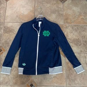adidas Jackets & Coats - Adidas Notre Dame zip up sweatshirt jacket